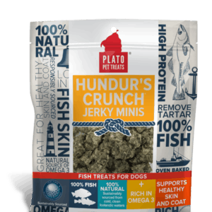 Plato Hundur's Crunch Jerky Minis Fish Dog Treats 10 oz
