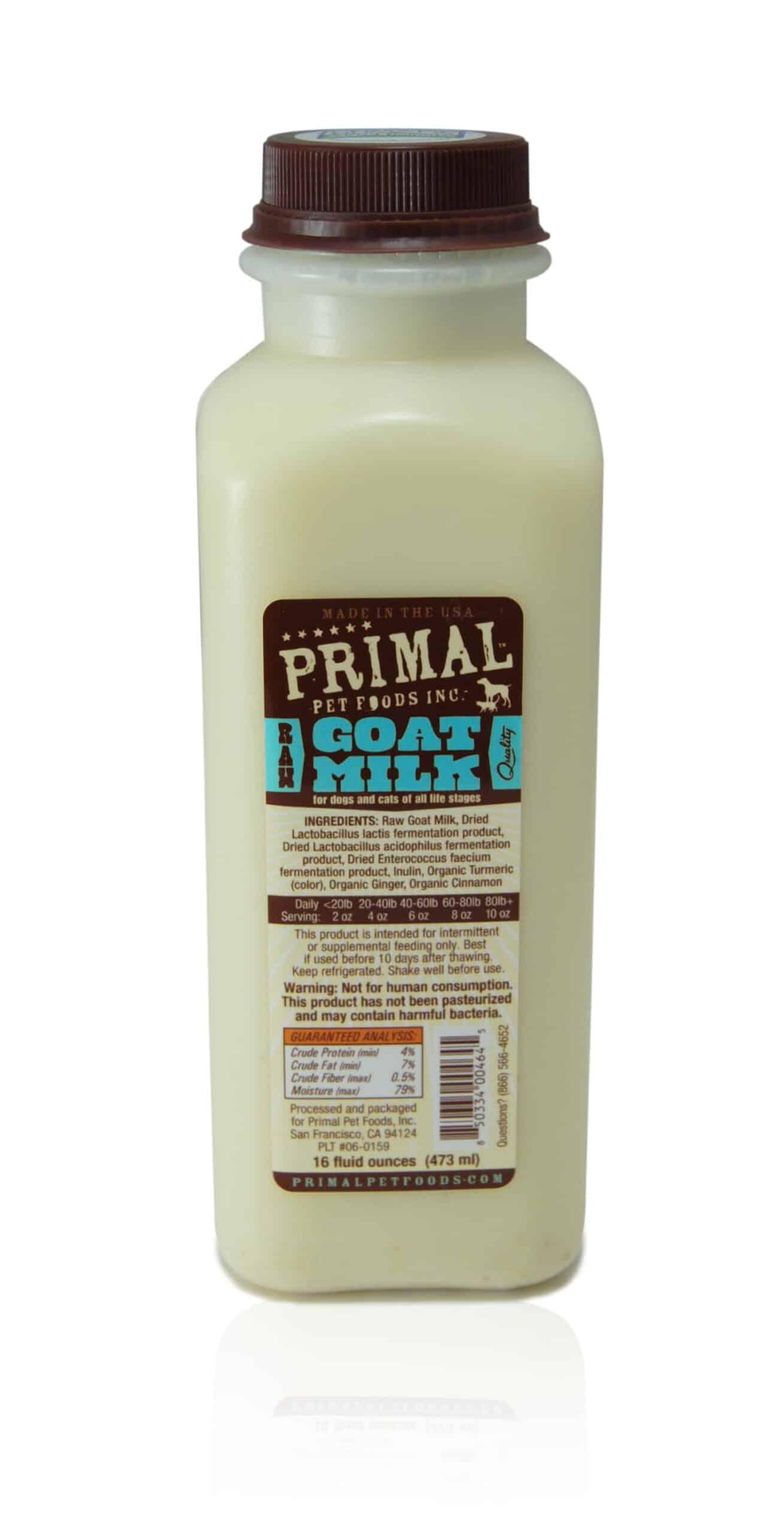 Primal 16oz Raw Goat Milk (1 pint)