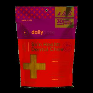 Virbac daily dose Skin + Coat Dental Dog Chew 15 Count Medium