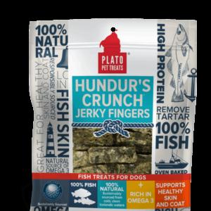 Plato Hundur's Crunch Jerky Fingers Fish Dog Treats 10 OZ