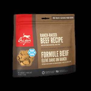 NS ORIJEN Dog Treats Ranch-Raised Beef Front Right 42.5g